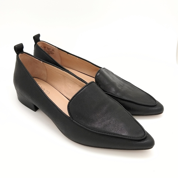 Studio Leather Flats Pointed Toe